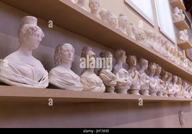Gipsoteca Bartolini, plaster casts by Lorenzo Bartolini, Accademia Gallery, Florence, Tuscany, Italy, Europe - Stock Image