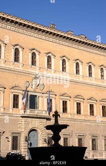 italy, rome, palazzo farnese, renaissance architecture - Stock Image