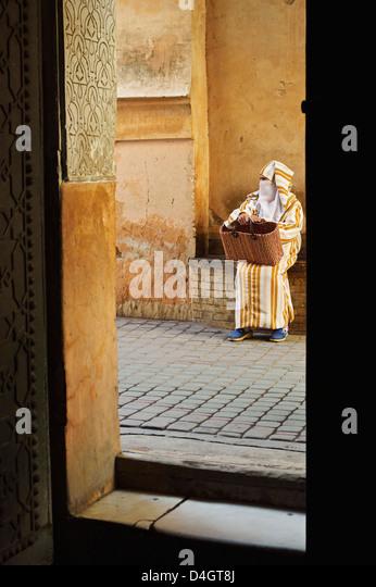 Street scene in the old town, Medina, Marrakesh, Morocco, North Africa - Stock-Bilder