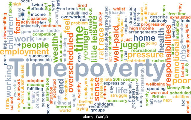 time poverty While both men and women suffer in poverty, gender discrimination means that women have far fewer resources to cope they are likely to be the last to eat, the ones least likely to access healthcare, and routinely trapped in time-consuming, unpaid domestic tasks.