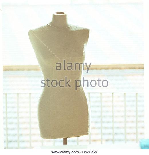Close up of dressmaker's form - Stock Image