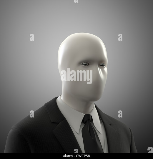 Abstract male figure without a face in a suit - Stock-Bilder