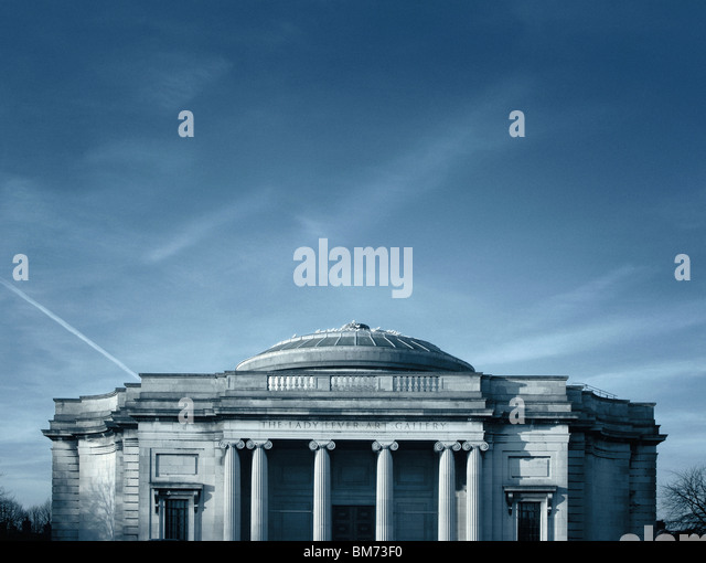 architecture image of the Lady Lever art gallery in Port Sunlight, Wirral, UK showing front elevation, pillars and - Stock-Bilder