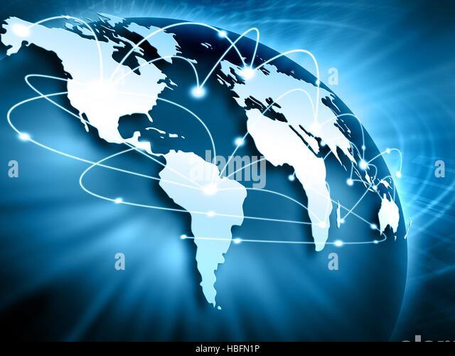 Global relationships - Stock Image