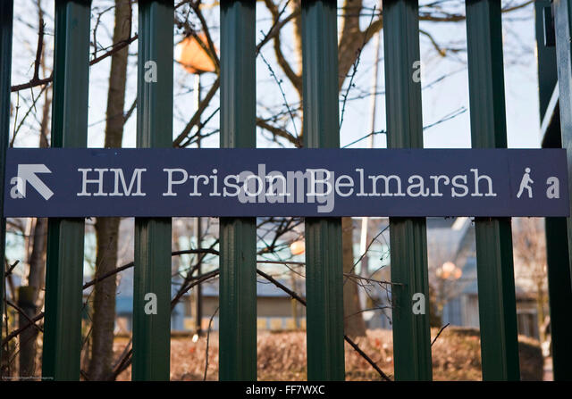Entrance sign to HMP Belmarsh. - Stock Image