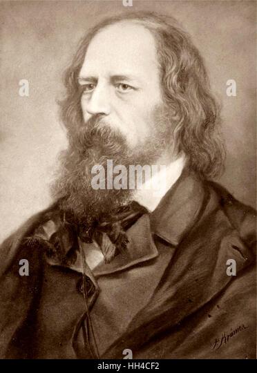 Lord Tennyson, Alfred Tennyson, portrait - Stock Image
