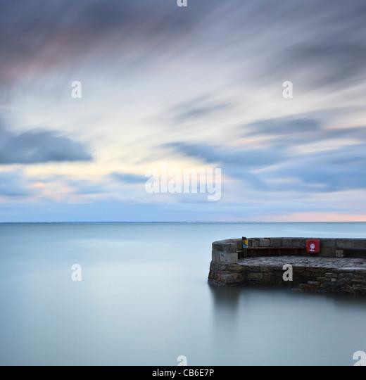 Dawn, The Stone Quay, Swanage, Dorset, UK - Stock Image
