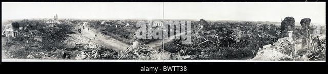 Lens France Europe World War I WW1 devastated coal mining region historical historic history destruction 19 - Stock Image