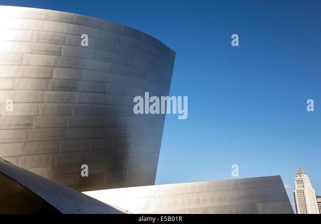 Los Angeles California CA L.A. Downtown Walt Disney Concert Hall landmark performance venue exterior architecture - Stock Image