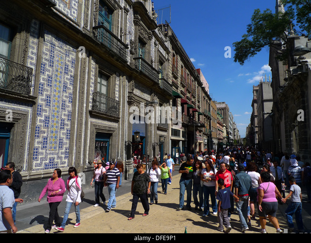 Casa de los azulejos mexico city stock photos casa de for Casa de los azulejos mexico city