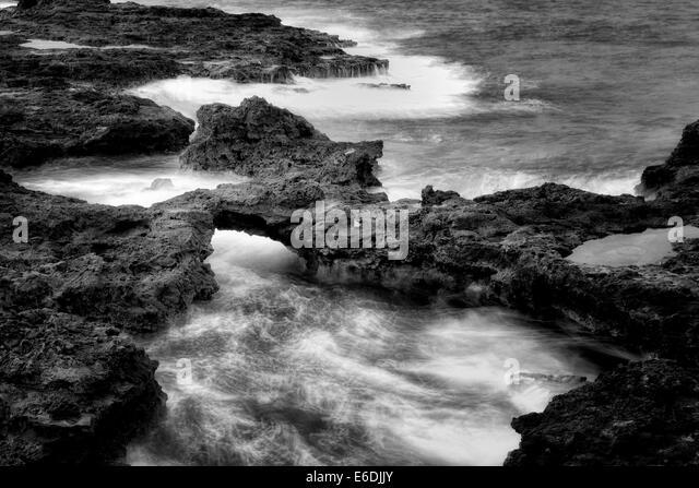 Arch on lanai coast. Hawaii - Stock Image