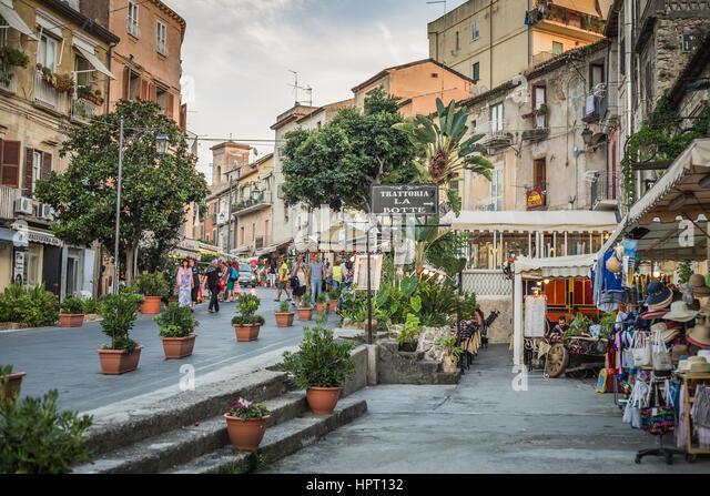 Tropea street, Calabria, Italy - Stock Image