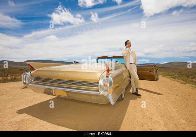 Lonely driver - Stock Image