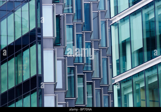 Abstract detail of office buildings, More London Riverside, London, England, UK - Stock Image