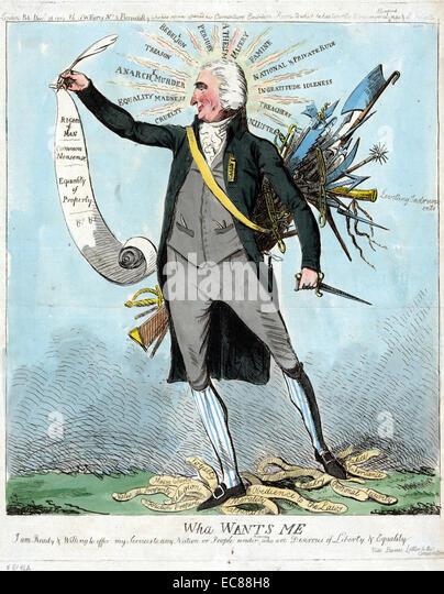 Print of Thomas Paine - Stock Image