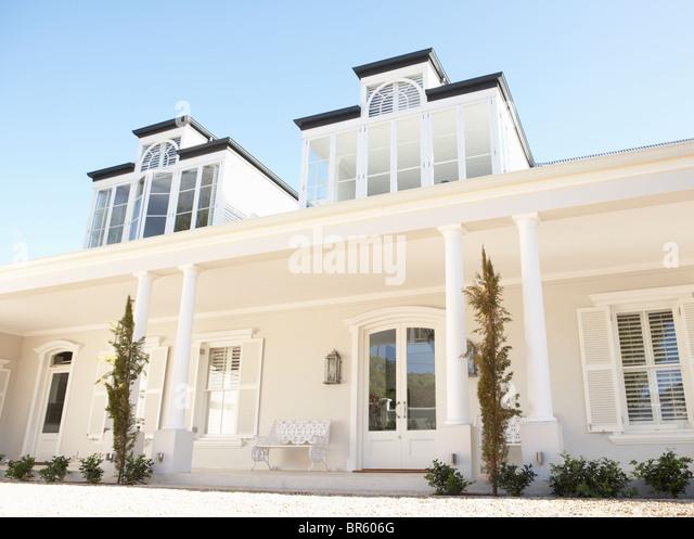 Exterior Of Beautiful Dream Home - Stock Image