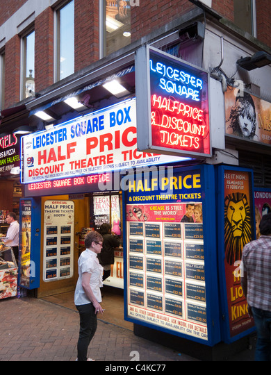 Half price theater tickets,Leicester Square ,London,England - Stock Image