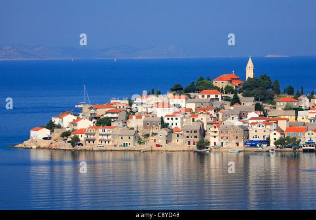 Primosten town in Croatia - Stock-Bilder