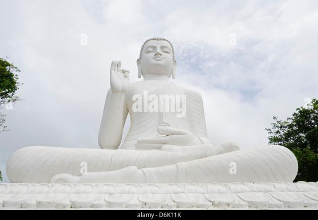 The Great seated Buddha at Mihintale, Sri Lanka, Asia - Stock Image