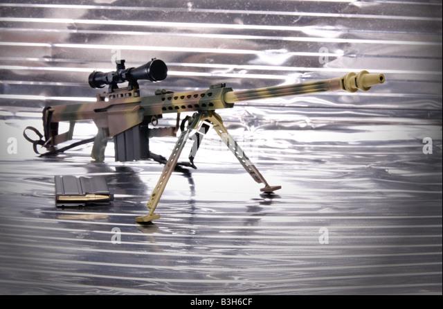 M85 Sniper gun accurate exact precise snipe - Stock Image