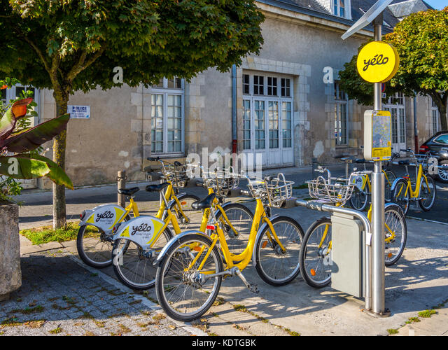 Yélo hire bicycles, La Rochelle, France. - Stock Image
