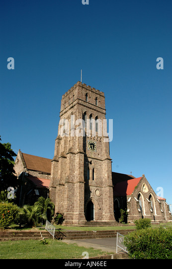 St Kitts St Georges Anglican Church Basseterre landmark - Stock Image