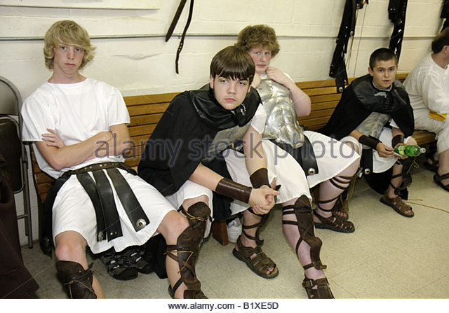 Arkansas Eureka Springs New Great Passion Play actor costume biblical character backstage New Testament religion - Stock Image