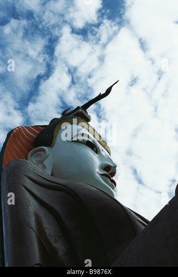 Seated Buddha, Amarapura, Myanmar (Burma) - Stock Image
