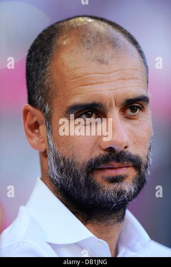 Josep 'Pep' Guardiola, head coach, team manager of german Bundesliga Club FC Bayern Muenchen - Stock-Bilder