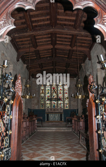 Chapel of the Lord Leycester Hospital in Warwick, England - Stock Image
