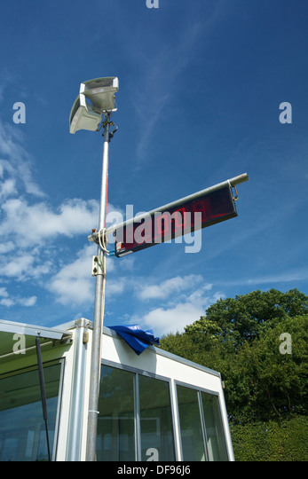 Timing Display at Show Jumping event UK - Stock Image
