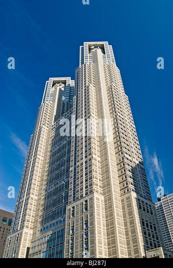 Skyscraper Architecture Kenzo Tange - Stock-Bilder