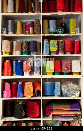 France, Paris, Maite Tanguy, textile designer - Stock Image
