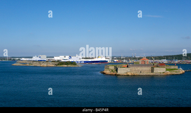 DFDS Tor Line RO RO vessels berthed at Gothenburg Harbour Sweden - Stock Image