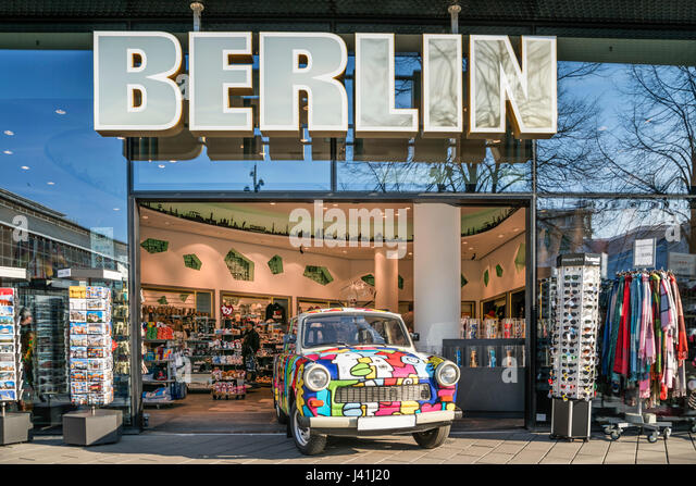 Souvenir shop, Trabi, Alexanderplatz, Berlin - Stock Image