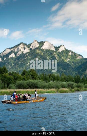 Central Europe Destination Dunajec European Pieniny Pieniny Mountains Polish landscape mountains nature scenic summer - Stock-Bilder