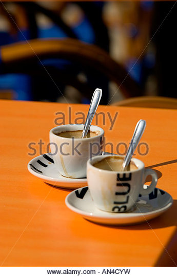 Provence, Orange, Cafe-bar On Place Clemenceau - Stock Image