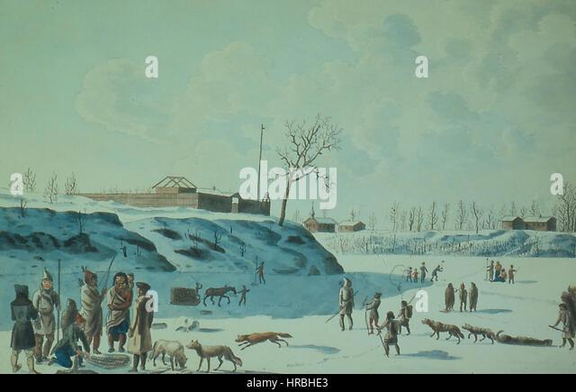 Rindisbacher fishing 1821 large (1) - Stock Image