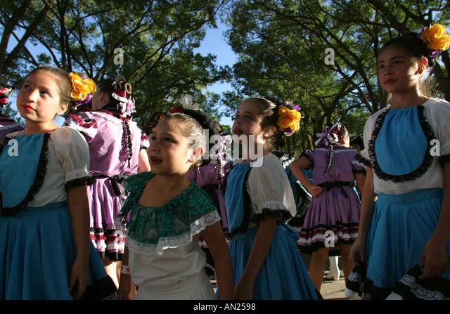New Mexico Albuquerque State Fair cultural parade - Stock Image