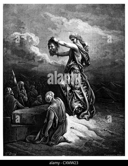 Judith shows the head of Holofernes - Stock Image