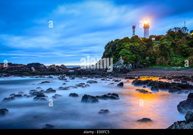 Shionomisaki Cape, Kushimoto, Japan. The cape marks the southern most point on Honshu, the main island of Japan. - Stock Image