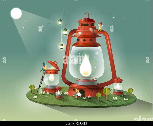 Lantern Light - Stock Image