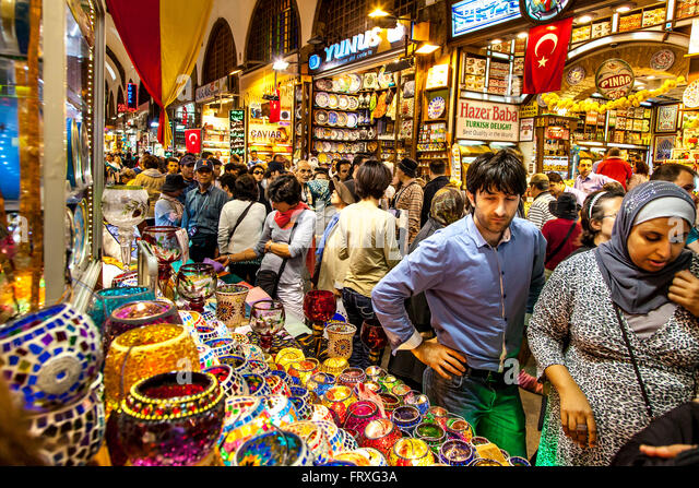 Inside the Spice Bazaar, Istanbul, Turkey - Stock Image