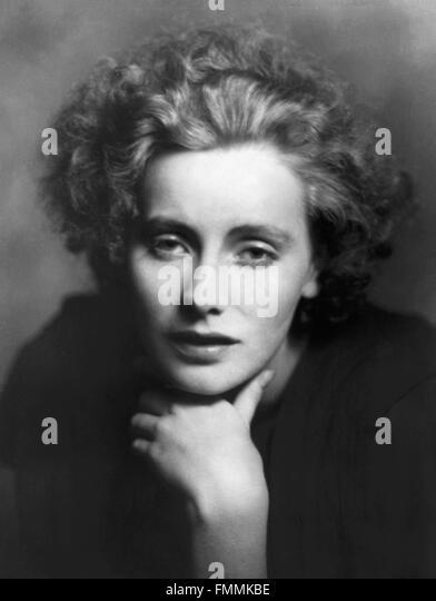 Greta Garbo. Portrait of the Swedish born film star, Greta Garbo, by Arnold Genthe, 1925 - Stock Image