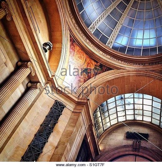 Inside Nottingham Council House - Stock-Bilder