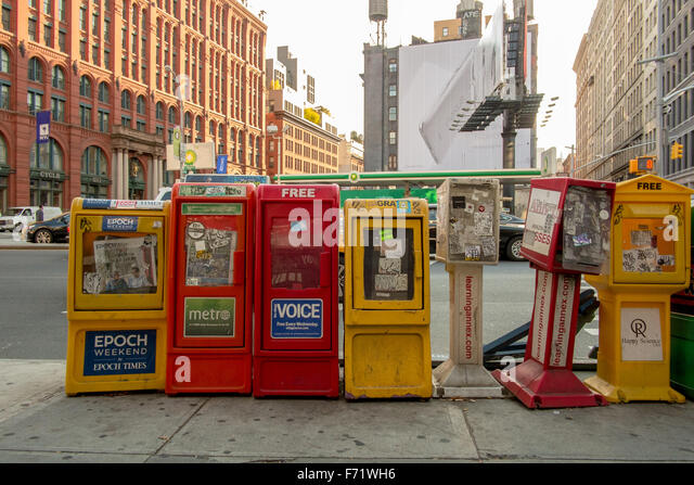 Free papers in New York City. - Stock-Bilder