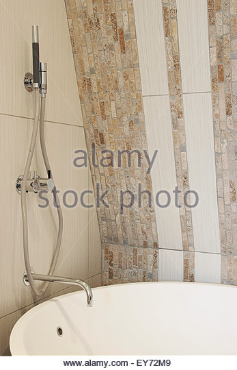 Bathroom detail. Essenza - 15 West Eaton Place, London, United Kingdom. Architect: n.a, 2006. - Stock Image