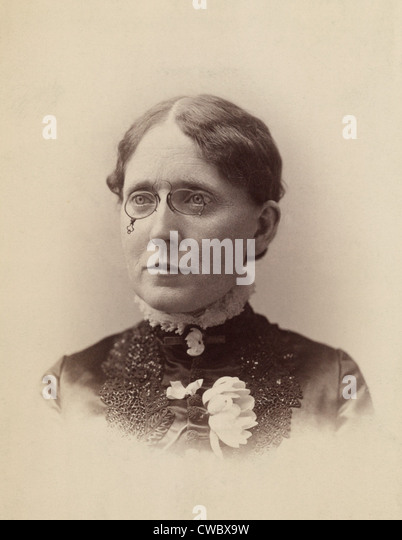 Frances Willard (1839-1898), American temperance reformer, and women's suffragist who was influential in the - Stock Image