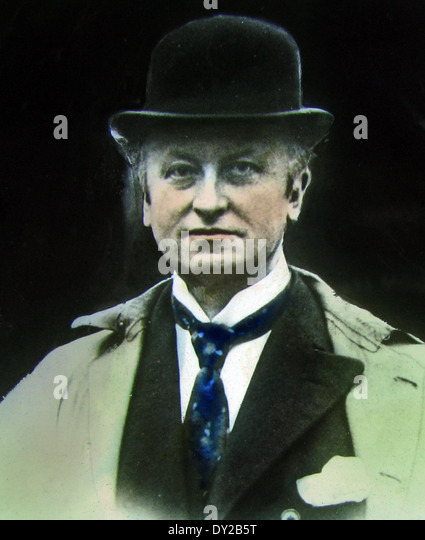 Earl Curzon Member of the British Coalition War Cabinet during WW1 - Stock Image