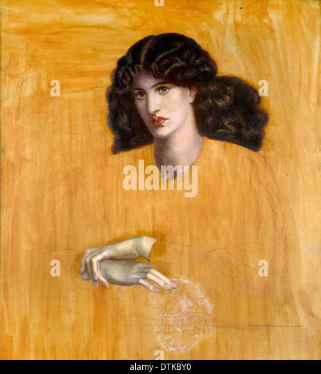 Dante Gabriel Rossetti, La Donna Della Finestra (The Lady of Pity) 1881 Oil on canvas. Birmingham Museum and Art - Stock Image